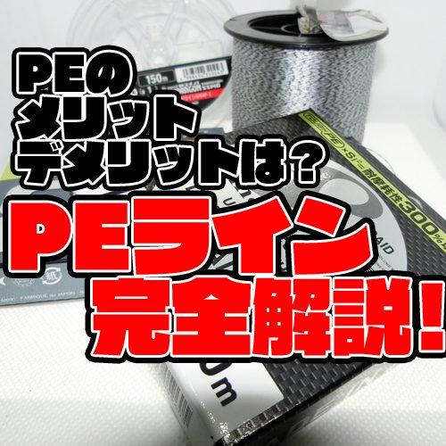 ソルトの定番ライン【PEライン】の基礎知識!